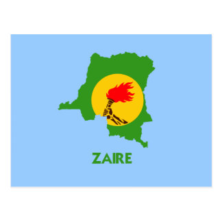 MAPA DE ZAIRE POSTALES