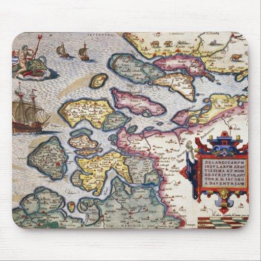 Mapa de Zelanda, c.1560 Alfombrillas De Ratón