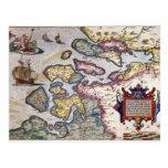 Mapa de Zelanda, c.1560 Postales
