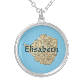 Mapa de Zimbabwe + Collar conocido