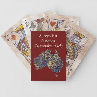 Mapa decorativo dibujado mano del Doodle de Austra Baraja Cartas De Poker