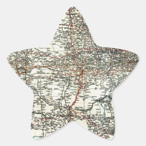 Mapa del AAA de las rutas transcontinentales Calcomanía Cuadrada