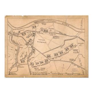 """Mapa del acampamento de la fragua del valle invitación 6.5"""" x 8.75"""""""