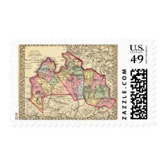 Mapa del albañil, Jackson, condados de Roane Franqueo