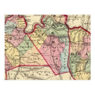 Mapa del albañil, Jackson, condados de Roane Tarjetas Postales