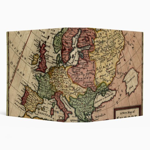 """Mapa del anticuario 1721 de Europa del Moll de Carpeta 2"""""""