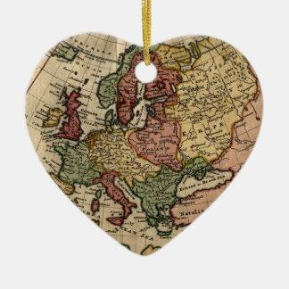 Mapa del anticuario 1721 de Europa del Moll de Ornamento Para Reyes Magos