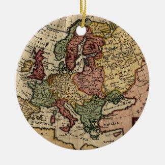 Mapa del anticuario 1721 de Europa del Moll de Ornamentos De Reyes
