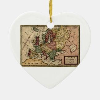 Mapa del anticuario 1721 de Europa del Moll de Ornatos