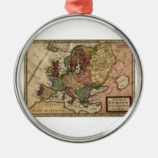 Mapa del anticuario 1721 de Europa del Moll de Adorno De Navidad