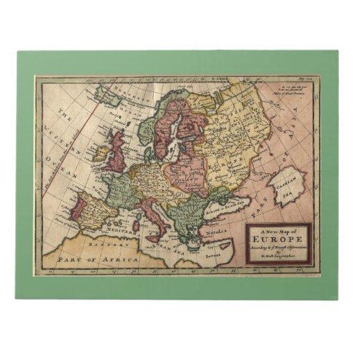 Mapa del anticuario 1721 de Europa del Moll de Her Blocs De Papel