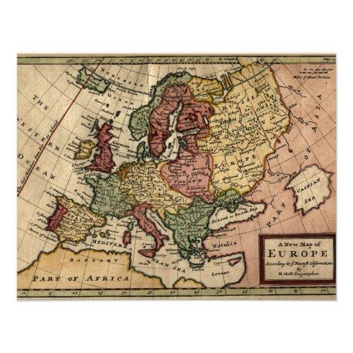 Mapa del anticuario 1721 de Europa del Moll de Her Comunicado