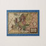 Mapa del anticuario 1721 de Europa del Moll de Her Puzzle Con Fotos