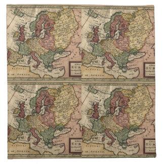 Mapa del anticuario 1721 de Europa del Moll de Her Servilleta