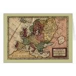 Mapa del anticuario 1721 de Europa del Moll de Her Felicitacion
