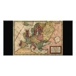 Mapa del anticuario 1721 de Europa del Moll de Her Tarjeta Fotografica Personalizada