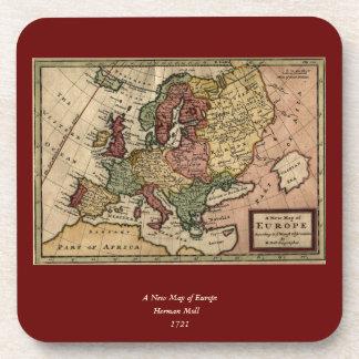 Mapa del anticuario 1721 de Europa del Moll de Posavasos De Bebidas