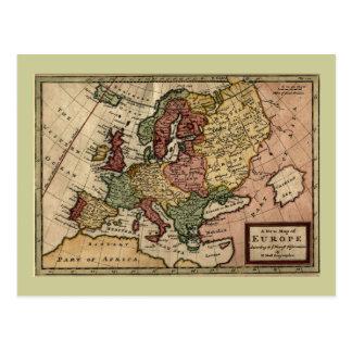 Mapa del anticuario 1721 de Europa del Moll de Tarjetas Postales