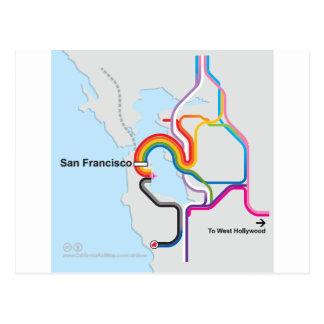 Mapa del arco iris de SF Tarjetas Postales