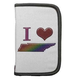 Mapa del arco iris de Tennessee del corazón del or Organizador