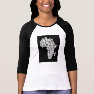 Mapa del arte del texto del mapa de África Playera