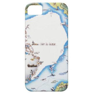 Mapa del ártico funda para iPhone 5 barely there