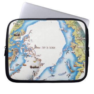 Mapa del ártico funda computadora