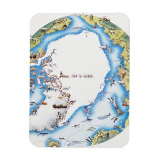 Mapa del ártico rectangle magnet