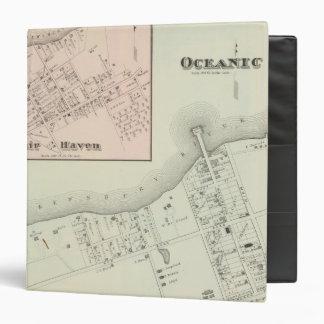 Mapa del asilo oceánico y justo, NJ