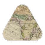 Mapa del atlas coloreado de la mano de África