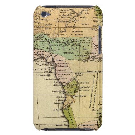Mapa del atlas coloreado de la mano de África iPod Case-Mate Protector