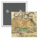 Mapa del atlas coloreado de la mano de África Pin