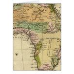 Mapa del atlas coloreado de la mano de África Felicitaciones