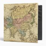 Mapa del atlas coloreado de la mano de Asia