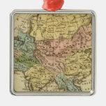 Mapa del atlas coloreado de la mano de Asia Ornatos