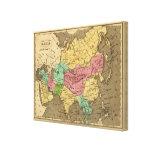 Mapa del atlas coloreado de la mano de Asia Lona Estirada Galerías