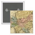Mapa del atlas coloreado de la mano de Asia Pin Cuadrado
