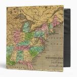 """Mapa del atlas coloreado de la mano de los E.E.U.U Carpeta 1 1/2"""""""