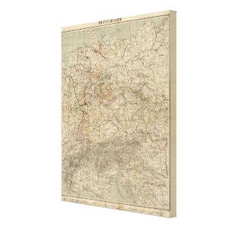 Mapa del atlas de Alemania Impresión En Lienzo