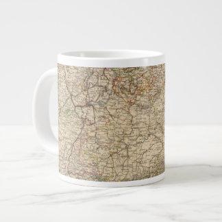 Mapa del atlas de Alemania Taza Grande