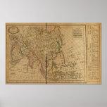 Mapa del atlas de Asia Póster