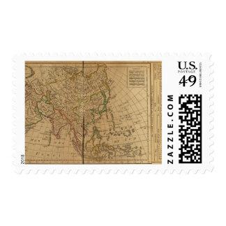 Mapa del atlas de Asia Sello