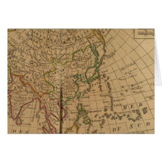 Mapa del atlas de Asia Tarjeta De Felicitación