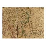 Mapa del atlas de Asia Tarjetas Postales