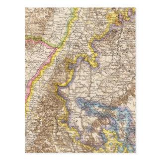 Mapa del atlas de Baden Alemania Postales