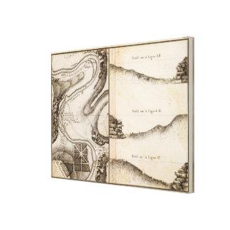 Mapa del atlas de Charente del La Impresión En Lienzo