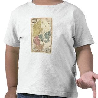 Mapa del atlas de Dinamarca Camiseta