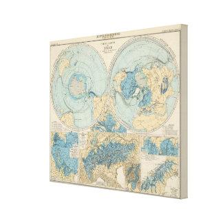Mapa del atlas de Eisverbreitung Impresion En Lona
