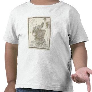 Mapa del atlas de Escocia Camisetas