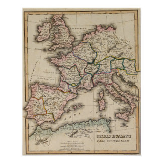 Mapa del atlas de Europa Posters